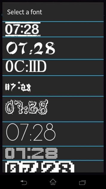 My Widget!:様々な種類のフォント