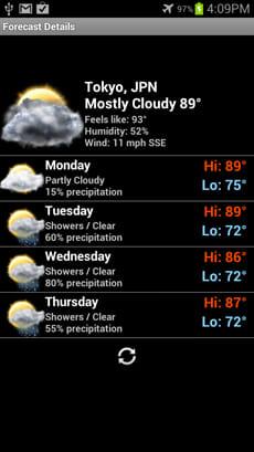Smoked Glass Weather Clock:天気予報もスタイリッシュ