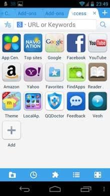 Maxthon Android Web ブラウザー:ランチャーのような使い方も可能!