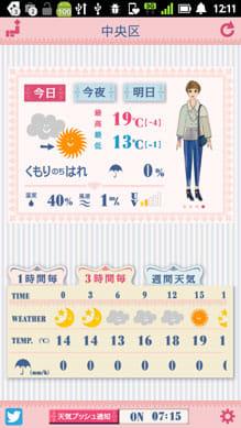 おしゃれ天気 コーデと天気が一度にわかる無料アプリ 美肌付