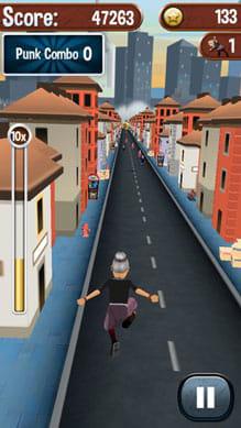 Angry Gran Run - Running Game:華麗なジャンプ。