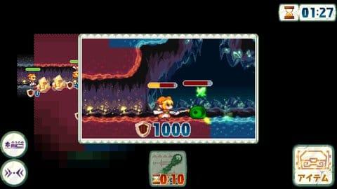 ボクらのCaveTown:探検モードでは他のプレイヤーが設置したモンスターとバトルが発生。