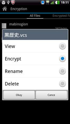 Hide It Pro:見られたくないファイルを暗号化することも可能