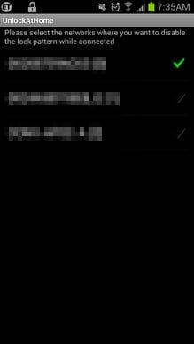 Unlock At Home Using Wifi:ロック画面を無効にしたいWi-Fi環境にチェックを入れるだけで設定完了