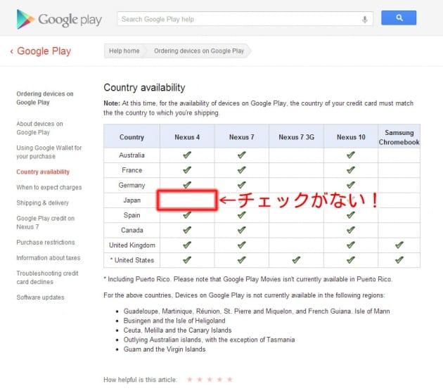 日本にチェックが入っていない!