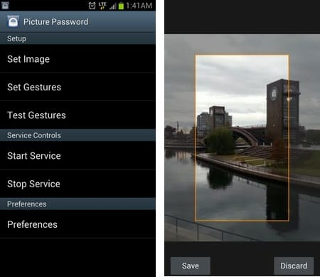 Picture Password Lockscreen:画像を好きなサイズにトリミングして設定できる
