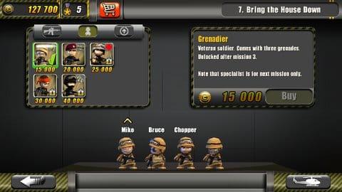 Tiny Troopers:ユニットのアップグレードなど成長要素も豊富
