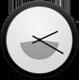 24h Analog Clock Widget