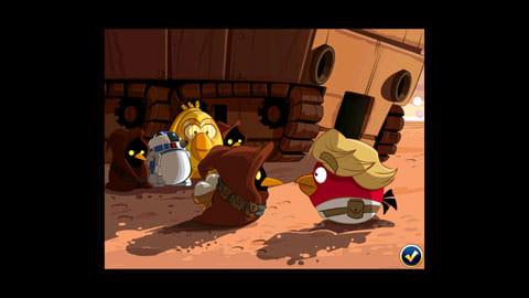 Angry Birds Star Wars:映画のワンシーンを思わせるカットは必見!