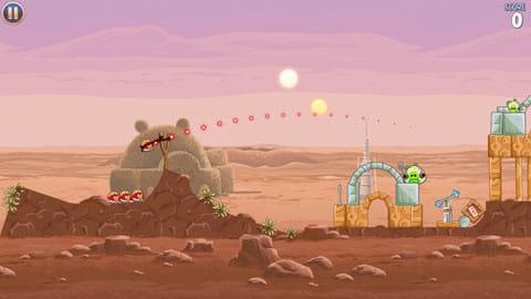 Angry Birds Star Wars:パチンコの要領で倒す基本操作は変わらない