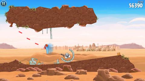 Angry Birds Star Wars:ライトセーバーで斬っていく爽快感がたまらない