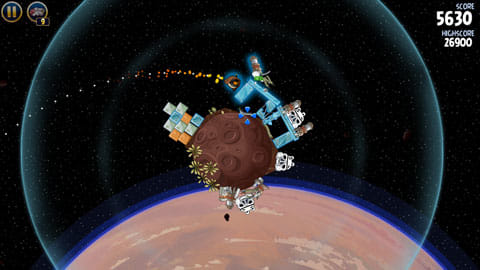 Angry Birds Star Wars:オビ=ワンのフォースは、タップした方向に衝撃波を起こす