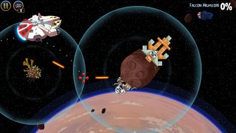 Angry Birds Star Wars:宇宙船ファルコン号も登場