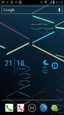 SiMi Clock Widget:色も合わせれば画面上に未来空間が広がる