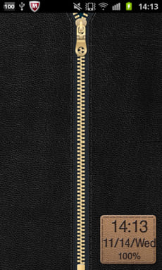 Zipper Lock Free Leather Coll.