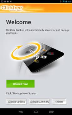 Clickfree Mobile Backup