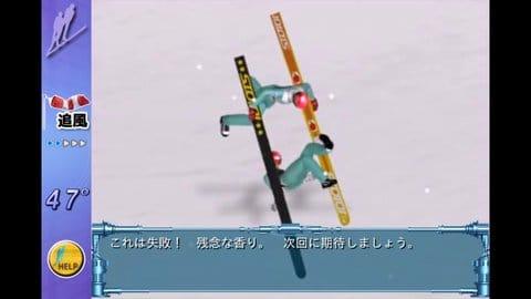 スキージャンプペア2EX TheGame:無理なジャンプ技は失敗確率が増す。