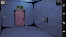 ドアスアンドルームズ:左の壁にメモ。右の壁にテンキーがあります