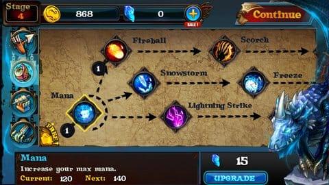 Dragon Warcraft:序盤はバリスタと魔法を強化すべし!