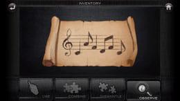 ドアスアンドルームズ:楽譜には「ド、ラ、ファ、レ、ファ、ド」と書かれている