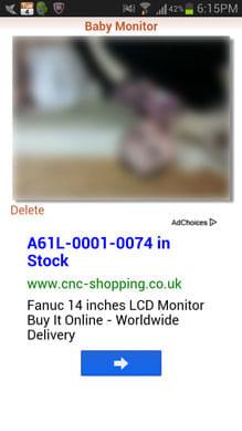 Baby Monitor:「Images」で画像を確認できる