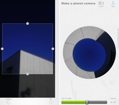 """プラネットカメラ:ありきたりな工場の写真が…(左)なんか近未来的な""""惑星""""に(右)"""