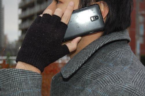 急な電話も手袋を脱がずにすぐ着信