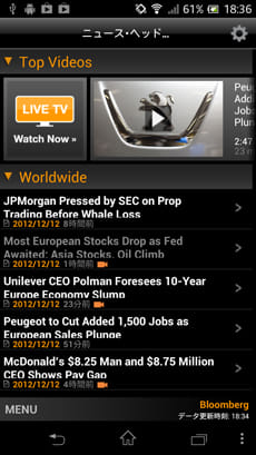 Bloomberg for Smartphone