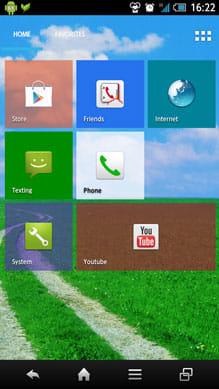 Tile Launcher Beta:「Rows」を4、「Gap size」を12 に設定
