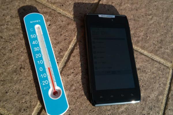 気温0℃の状況で実験してる様子