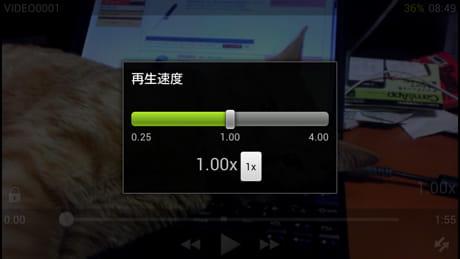 VLC for Android Beta:再生速度の調整もできる