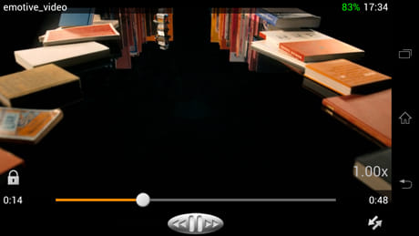 VLC for Android Beta:ホイールバーを表示させた画面