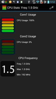 CPU 使用率モニター CPU Stats