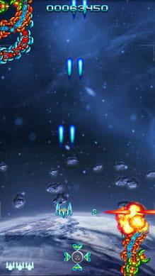 Galaga Special Edition Free:上下左右にショットが撃てるオプションを設置するのが重要。