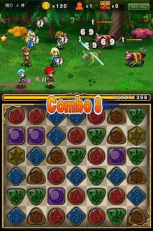 パズルロワイヤル:ブロックを消して攻撃するパズル連動RPG。