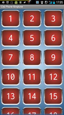 古い電話の着メロ:番号をタップで試聴できる