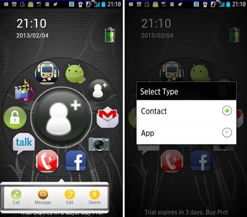 Speed Launcher LockScreen:アプリをタップし、「Edit」から連絡先やアプリを登録しよう