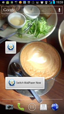 Wallpaper switcher:気分に合わせて、ウィジェットから壁紙を切り替えよう