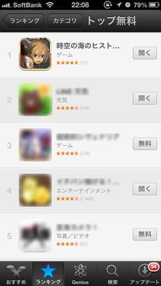 ヒストリカ:App Storeの無料総合ラインキングで1位の実力を体感せよ!