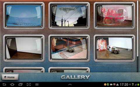 FxGuru: Movie FX Director:撮影した動画が一覧表示される「GALLERY」