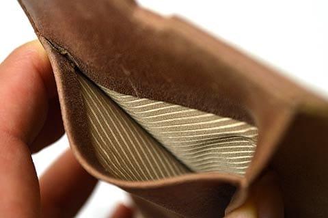 内側の縫製も丁寧に作られている