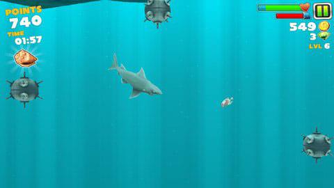 Hungry Shark Evolution:カサゴやクラゲには要注意!一気に体力が削られるぞ。