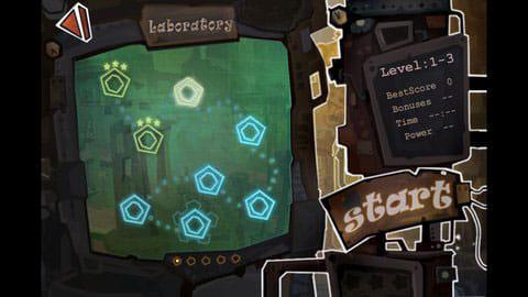 Robo5:ステージセレクト画面もこっている。チャプター2まで無料で遊べた。
