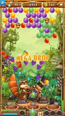 Acorn Buster:結合点を狙ってフルーツをごっそり落せ!