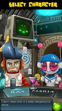Catcha Catcha Aliens!:プレイヤーキャラクターも個性的で可愛いデザインだ。