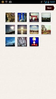 PHOTOPRESSO:フォトブックに利用する写真の中から、表紙用の写真を選択