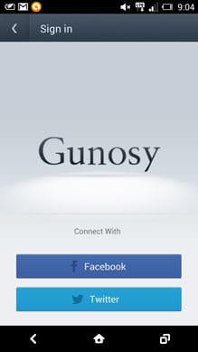 3分で雑談力をつける まとめ読みアプリ【グノシー】:『Facebook』か『Twitter』のアカウントでログインする