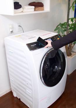 スマホであらかじめ設定を選択し、洗濯機にタッチしよう