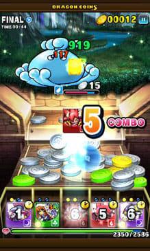 ドラゴンコインズ:コイン落としで敵とバトル。