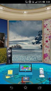 3Dホーム:壁紙から床まで、好きなデザインへ変更できる